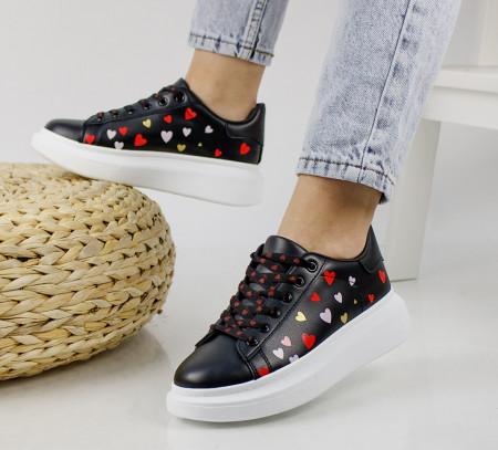 Pantofi sport negri cod:20C08N