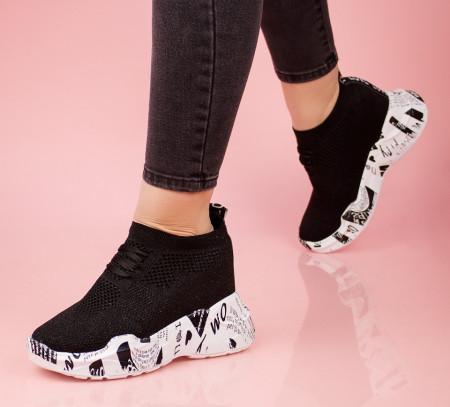 Pantofi dama negrii COD:K121N