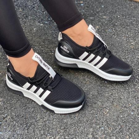 Pantofi sport negru/alb cod:SNN03