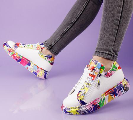 Pantofi sport albi cod:11-14