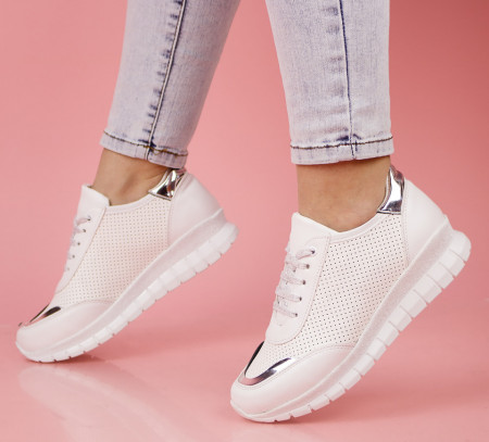 Pantofi sport albi cod:LV43