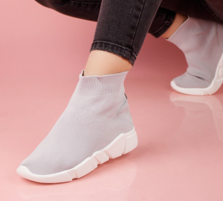 Pantofi dama gri COD:5102G