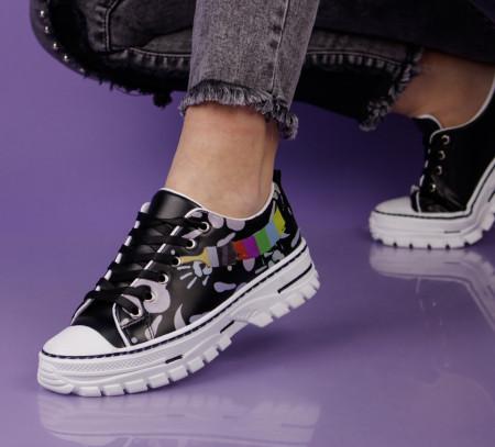 Pantofi sport negri cod:T1003