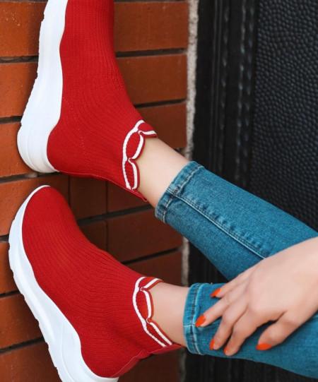 Pantofi sport rosii cod:r991