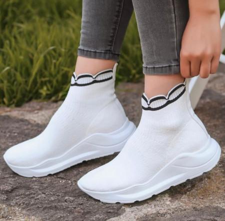 Pantofi sport albi cod:a991