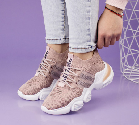 Pantofi sport roz cod:C102