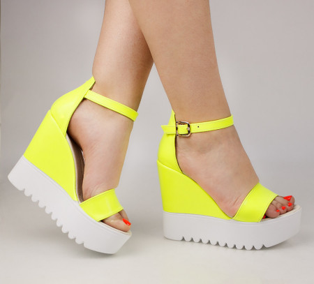 Sandale dama cu platforma verzi COD:TR393