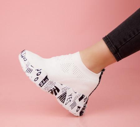 Pantofi dama albi COD:K121