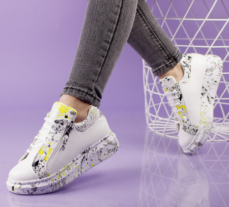 Pantofi sport albi cod:11-17