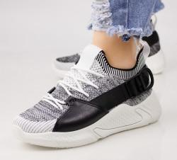 Pantofi dama alb/negru COD:LT198