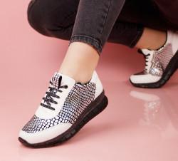 Pantofi dama albi COD:LV55A