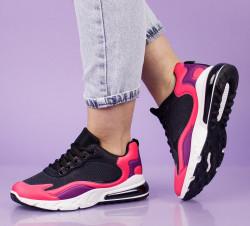 Pantofi sport roz/negru cod:4003