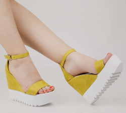 Sandale dama cu platforma mustar COD:TR325