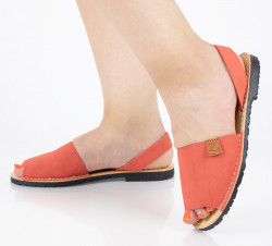 SANDALE ROSII DIN PIELE ECOLOGICA COD:Y603