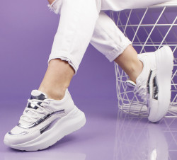 Pantofi sport albi cod:11-22