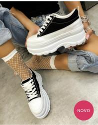 Pantofi sport alb/negru cod:MM03