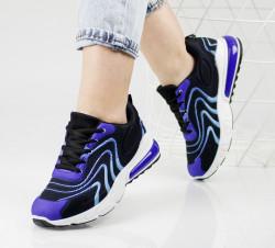 Pantofi sport albastri cod:4002