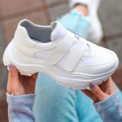Pantofi sport albi cod:K22