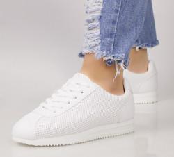 Pantofi dama albi COD:221