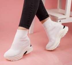 Pantofi sport albi COD:5818