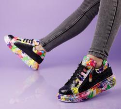 Pantofi sport negri cod:11-15
