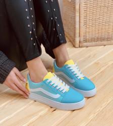 Pantofi sport verde aqua cod:6001