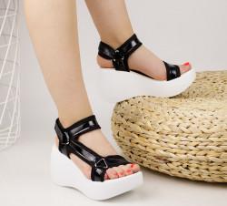 Sandale dama cu platforma negre COD:TR340