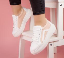 Pantofi dama alb/roz COD:SL11R