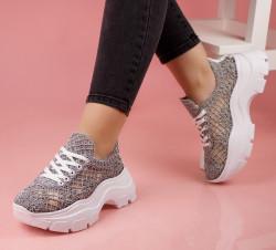 Pantofi dama gri COD:K88G