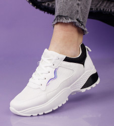 Pantofi sport alb/negru cod:SL15A