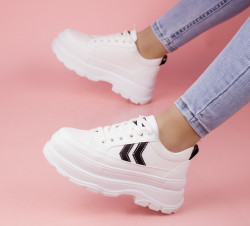 Pantofi sport albi cod:M01