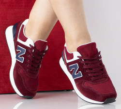 Pantofi sport visinii din imitatie piele intoarsa