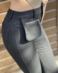 Pantaloni negri elastici cod:P038