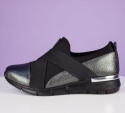 Pantofi dama argintii cod:K13