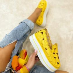 Pantofi dama galbeni cod:FL11