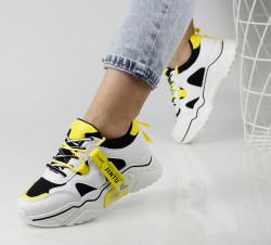 Pantofi sport alb/galben cod:AN5720