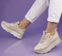 Pantofi sport bej cod:141B