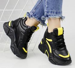Pantofi sport negru/galben cod:13