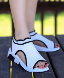 Sandale dama albe COD:K321A