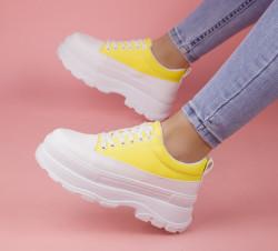 Pantofi sport alb/galben cod:MM05