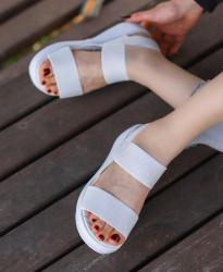 Sandale dama albe COD:S775