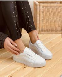 Pantofi sport albi cod:6001A