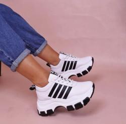 Pantofi sport albi cod5385