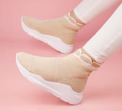Pantofi sport bej cod:B991