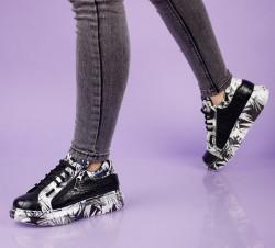 Pantofi sport negri cod:11-13