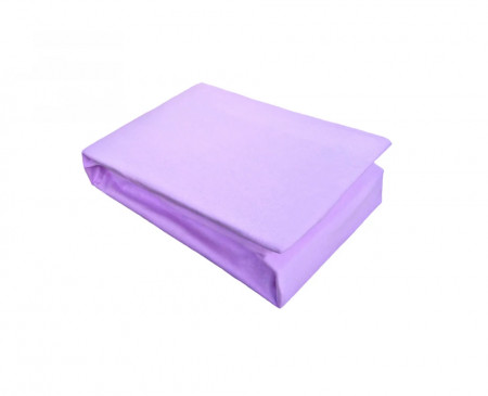 Husa de pat cu Elastic Bumbac Jersey 180x200 cm lila