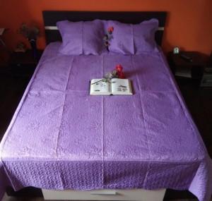 Cuvertura pat dublu cu 3 piese din bumbac