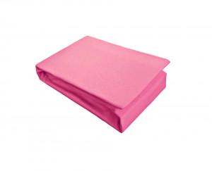 Husa de pat cu Elastic Bumbac Jersey 180x200 cm fushia