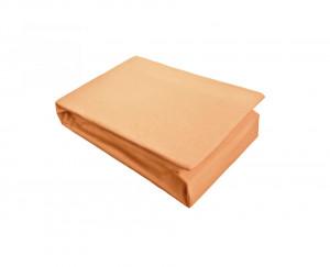 Husa de pat cu Elastic Bumbac Jersey 180x200 ,Oranje