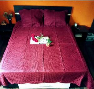 Cuvertura pat dublu cu 3 piese din bumbac 100%